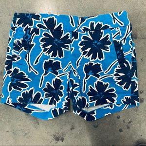 J. Crew Blue Print Chino Shorts Pockets Size 2